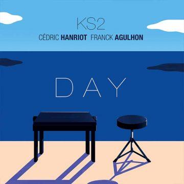 """Le projet intitulé """"DAY"""" comporte 9 titres originaux entièrement composés par le duo que forme Franck Agulhon (Batterie) et Cédric Hanriot (Claviers, Sound Design et Vocoder)."""